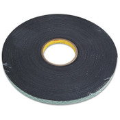 3M Double Coated Urethane Foam Tapes 4056, 3/4 in X 36 yd, 62 mil, Black, 12/CA