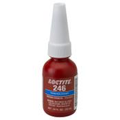 Loctite 246 Threadlockers, Medium Strength/High Temperature, 10 mL, Blue, 1/EA
