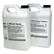 Devcon 5 Minute Epoxy, 1 gal, 9 lb, Dev-Pak, Light Amber, 1/EA