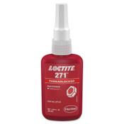 Loctite 271 Threadlockers, High Strength, 50 mL, 1 in Thread, Red, 1/BTL
