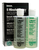 Devcon 5 Minute Epoxy, 15 oz, Dual Bottle, Light Amber, 1/EA