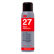 3M Multi-Purpose 27 Spray Adhesive, 13.5 oz Aerosol, White, 12/CA