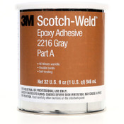 3M Scotch-Weld Epoxy Adhesives, 1 qt Can, Gray; White, 6/CA
