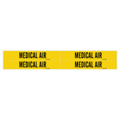 Brady Medical Gas Pipe Markers, Carbon Dioxide, White on Gray Vinyl, 1 1/8 in x 7 in, 1/CG