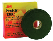 3M Scotch Linerless Splicing Tapes 130C, 30 ft x 1 in, Black, 1/RL