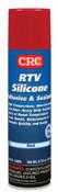 CRC RTV Silicone Adhesive/Sealants, 8 oz Pressurized Tube, Red, 12/CS