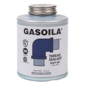 Gasoila Chemicals Soft-Set Thread Sealants, 1 pt Brush Top Can, Blue/green, 12/CA