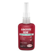 Loctite 638 Retaining Compound, Maximum Strength, 50 mL Bottle, Green, 4,500 psi, 1/EA