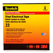 3M Scotch 22 Heavy-Duty Vinyl Insulation Tapes, 36 yd x 2 in, Black, 12/CA
