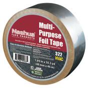 Berry Global 322 Multi-Purpose Plain Foil Tape, 2 in x 50 yd, 5 mil, Aluminum Silver, 1/RL