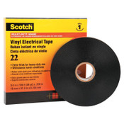 3M Scotch Heavy-Duty Vinyl Insulation Tapes 22, 36 yd x 3/4 in, Black, 1/ROL