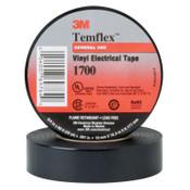 3M Temflex Friction Tape, 3/4 in X 60 ft, 13 mil, Black, 20/CA