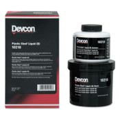 Devcon Plastic Steel Liquid (B), 1 lb, Dark Grey, 1/EA