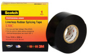 3M Scotch Linerless Splicing Tapes 130C, 30 ft x 1 1/2 in, Black, 1/RL