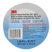 3M General Purpose Vinyl Tape 764, Black, 1 in x 36 yd, 36/CA