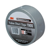 3M Value Duct Tapes 1900, Silver, 5.15 in x 2.83 in, 12/CA
