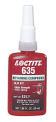 Loctite 635 Retaining Compound, High Strength/Slow Cure, 50 mL Bottle, Green, 4,000 psi, 1/BTL
