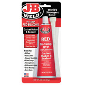 J-B Weld Hi-Temp Red Silicone Gasket Maker & Sealant, 3 oz, 1/EA