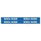 Brady Medical Gas Pipe Markers, Medical Vacuum, White on Blue Vinyl, 1 1/8 in x 7 in, 1/CG