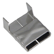 Band-It 316 Stainless Steel Clips, 3/8 in, Stainless Steel, 100/BOX, #AE4539