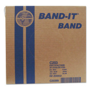 Band-It Stainless Steel Bands, 3/8 in x 100 ft, 0.025 in Thick, Stainless Steel, 1/RL, #C20399