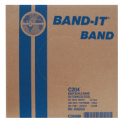 Band-It Stainless Steel Bands, 1/2 in x 100 ft, 0.03 in Stainless Steel 201, 1/RL, #C20499