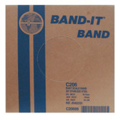 Band-It Stainless Steel Bands, 3/4 in x 100 ft, 0.03 in Stainless Steel 201, 1/RL, #C20699