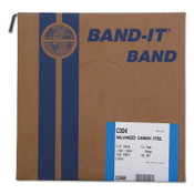 Band-It Bands, 1/2 in, 100 ft, 0.03 in, Galvanized Carbon Steel, 1/ROL, #C30499