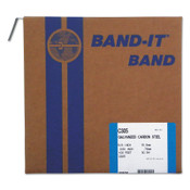 Band-It Bands, 5/8 in, 100 ft, 0.03 in, Galvanized Carbon Steel, 1/ROL, #C30599
