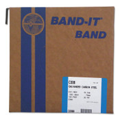 Band-It Bands, 3/4 in, 100 ft, 0.03 in, Galvanized Carbon Steel, 1/ROL, #C30699