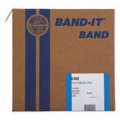 Band-It Type 316 Bands, 1/4 in x 100 ft, 0.02 in Thick, Stainless Steel, 1/RL, #C40299