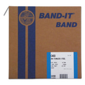 Band-It Type 316 Bands, 3/8 in x 100 ft, 0.025 in Thick, Stainless Steel, 1/RL, #C40399