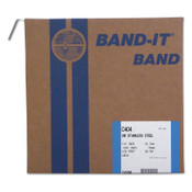 Band-It Type 316 Bands, 1/2 in x 100 ft, 0.03 in Thick, Stainless Steel, 1/RL, #C40499