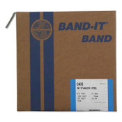 Band-It Type 316 Bands, 5/8 in x 100 ft, 0.03 in Thick, Stainless Steel, 1/RL, #C40599