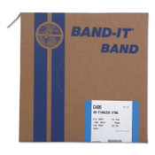 Band-It Type 316 Bands, 3/4 in x 100 ft, 0.03 in Thick, Stainless Steel, 1/RL, #C40699