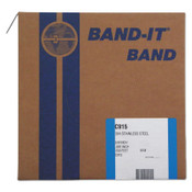 Band-It 304/Straps, 5/8 in, 200 ft, 0.02 in, Stainless Steel, 1/RL, #C91599