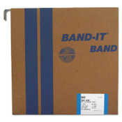 Band-It Giant Bands, 1 in x 100 ft, 0.044 in Thick, Stainless Steel, 1/ROL, #G43199