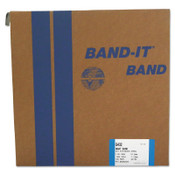 Band-It Giant Bands, 1 1/4 in x 100 ft, 0.044 in Thick, Stainless Steel, 1/ROL, #G43299
