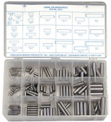 Precision Brand Dowel Pin Assortments, Alloy Steel, 176 per set, 1/AST, #12912