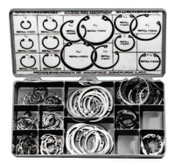 Precision Brand Housing Ring Assortments, Spring Steel, 150 per set, 1/KIT, #12920