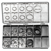 Precision Brand Retaining Ring Assortments, Spring Steel, 140 per set, 1/KIT, #12935