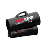 HeatStar Rechargeable Forced Air Propane Heaters, 60,000 Btu/h, 1 EA, #HS60CLP