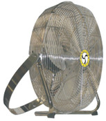 Airmaster Fan Company High Velocity Low Stand Fans, Swivel, Yoke Mount, 18 in, 1/8 hp, 3-Speed, 1 EA, #78984