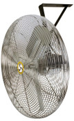 Airmaster Fan Company Commercial Non-Oscillating Air Circulator, Wall/Ceiling, 30 in, 1/4 hp, 3-Speed, 1 EA, #71573