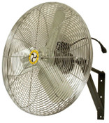 Airmaster Fan Company Commercial Non-Oscillating Air Circulator, Wall/Ceiling, 24 in, 1/4 hp, 3-Speed, 1 EA, #71572