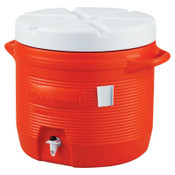 Newell Rubbermaid Plastic Water Coolers, 7 gal, Orange, 1 EA, #16550111