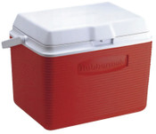 Newell Rubbermaid Ice Chests, 24 qt, Red, 1 EA, #FG2A1304MODRD