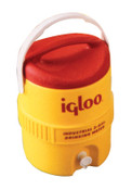 Igloo 400 Series Coolers, 2 gal, Red; Yellow, 1 EA, #421