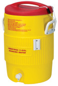 Igloo Heat Stress Solution Water Coolers, 5 Gallon, Red and Yellow, 1 EA, #48153