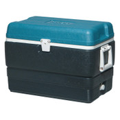 Igloo MaxCold Extended Performance Coolers, 50 qt, Jet Carbon/Ice Blue/White, 1 EA, #49492